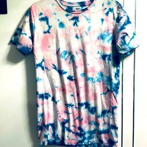 💜3/$30 Tie dye Small I.D.G.A.F. Graphic Tee